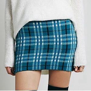 FL&L (Knitz) Teal Plaid Skirt w/ shorts